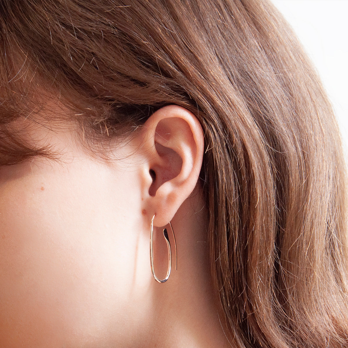 Paperclip Rose Gold Earring