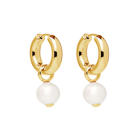 Ms Perla Yellow Gold Earring