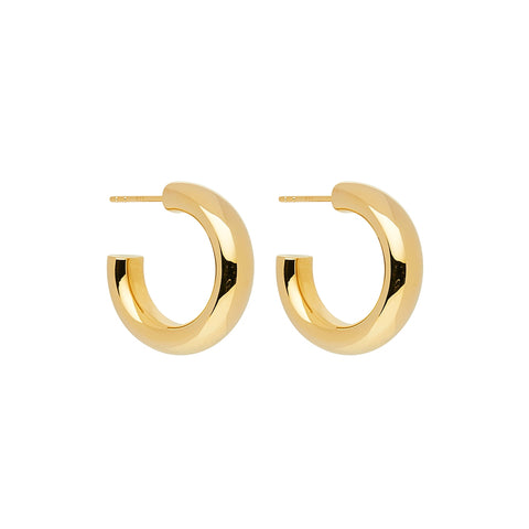 Mama Stud Hoop Earring Yellow