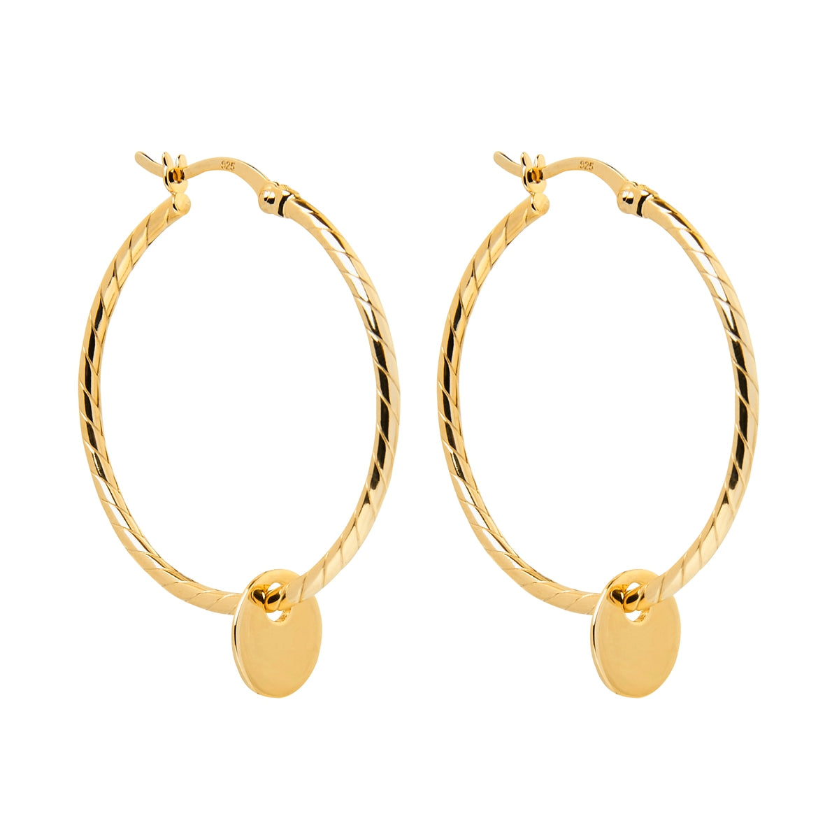 Cayman Hoop Gold Earring