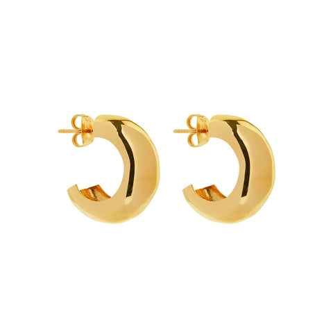 Barber Gold Stud Earring