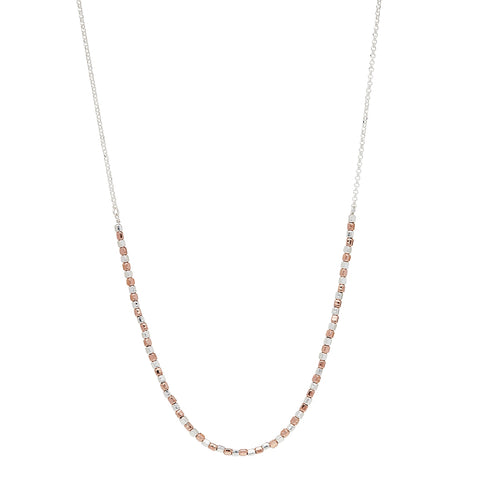 Rosy Pretty Pebble Necklace