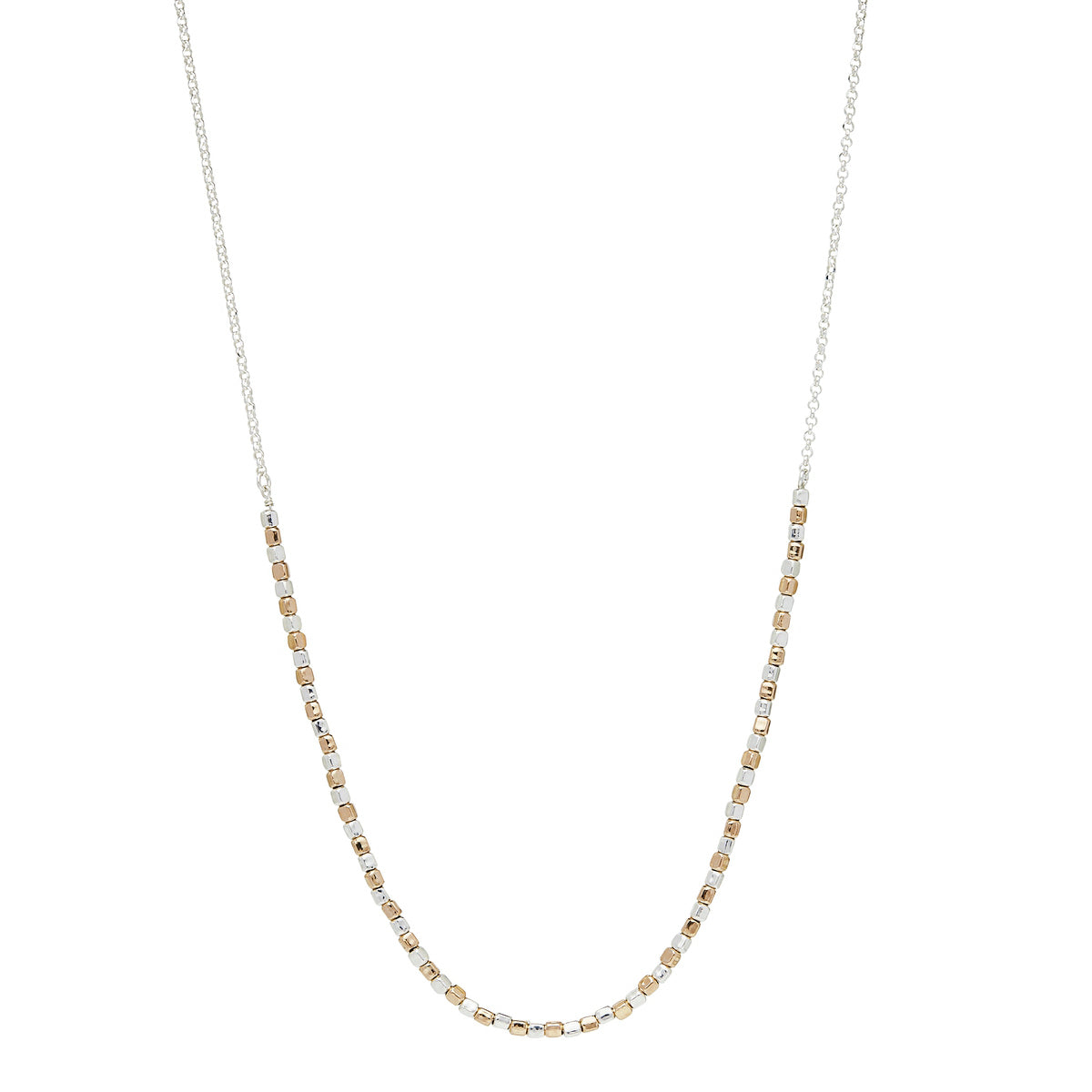 Golden Pretty Pebble Necklace