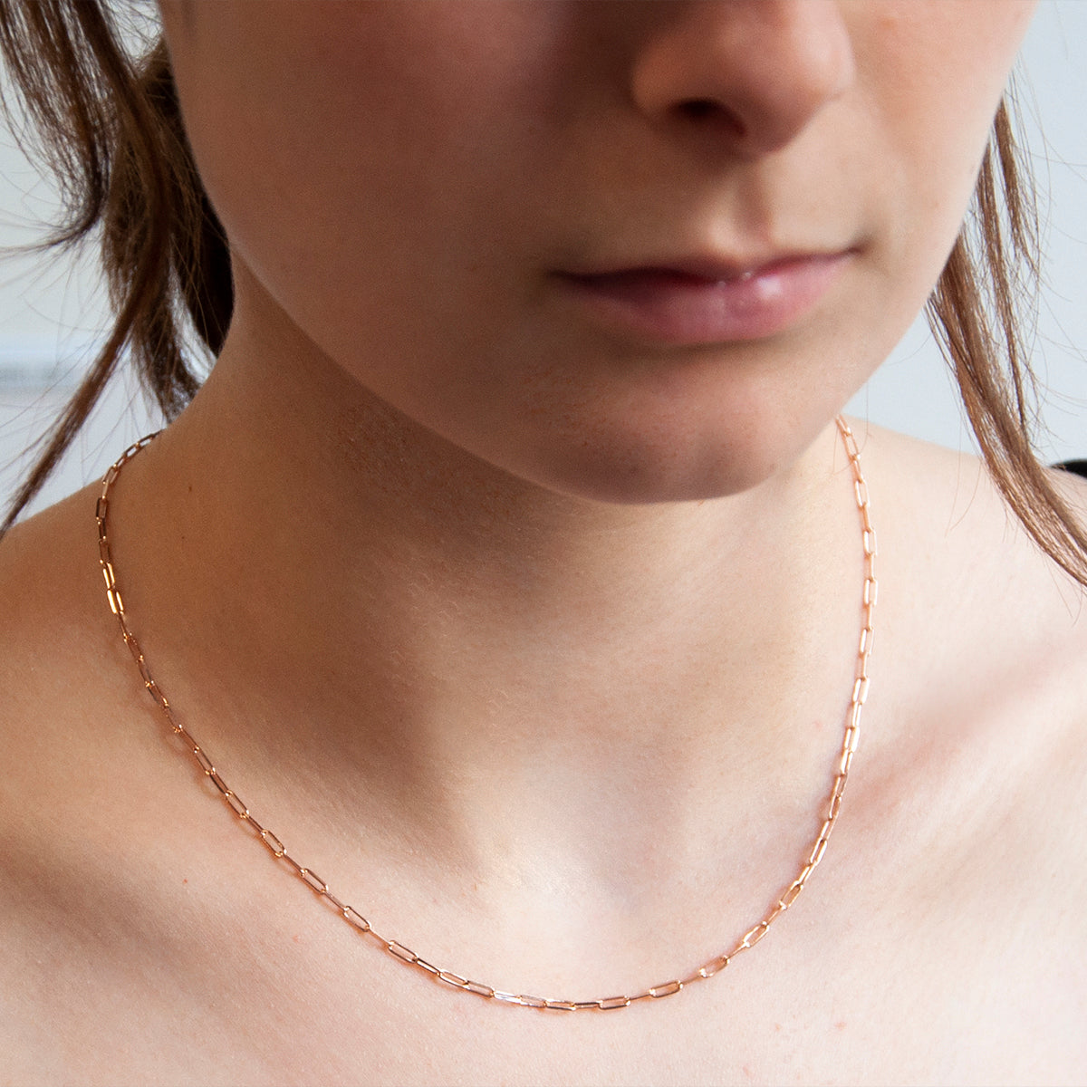 Small Vista Rose Chain Necklace