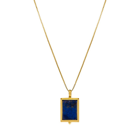 Josephine Lapis Necklace