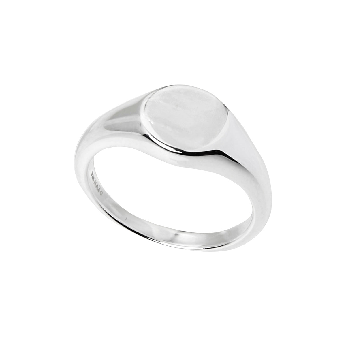925 sterling silver engravable signet ring