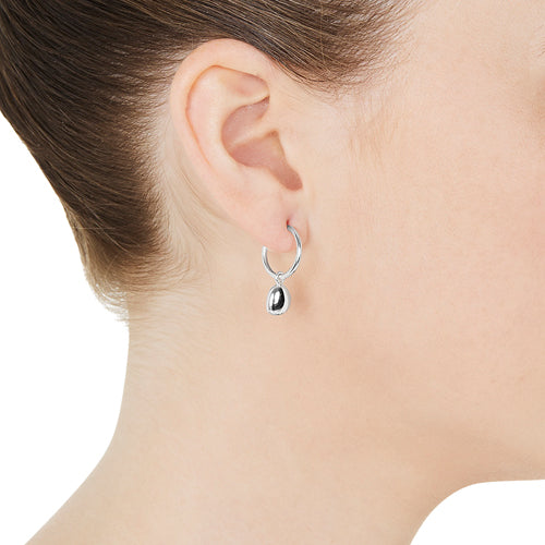 Piedra Small Hoop Earring