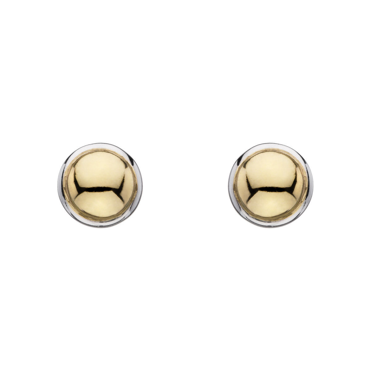 Golden Glimmer Stud Earring