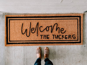 Custom Coir DOUBLE Doormat