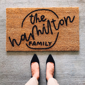 Custom Family Doormat #2
