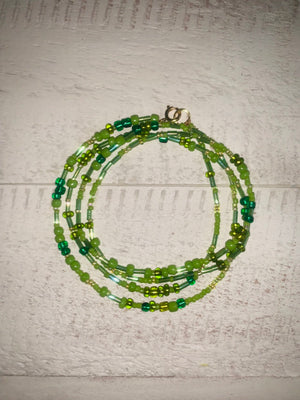 The Gorgeous Green Waistbeads