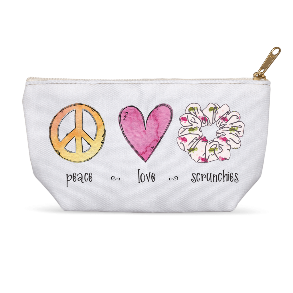 Peace Love Turtle Scrunchie Custom Bag