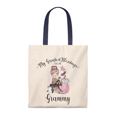 My Greatest Blessings Personalized Tote Bag - Pink Pumpkin