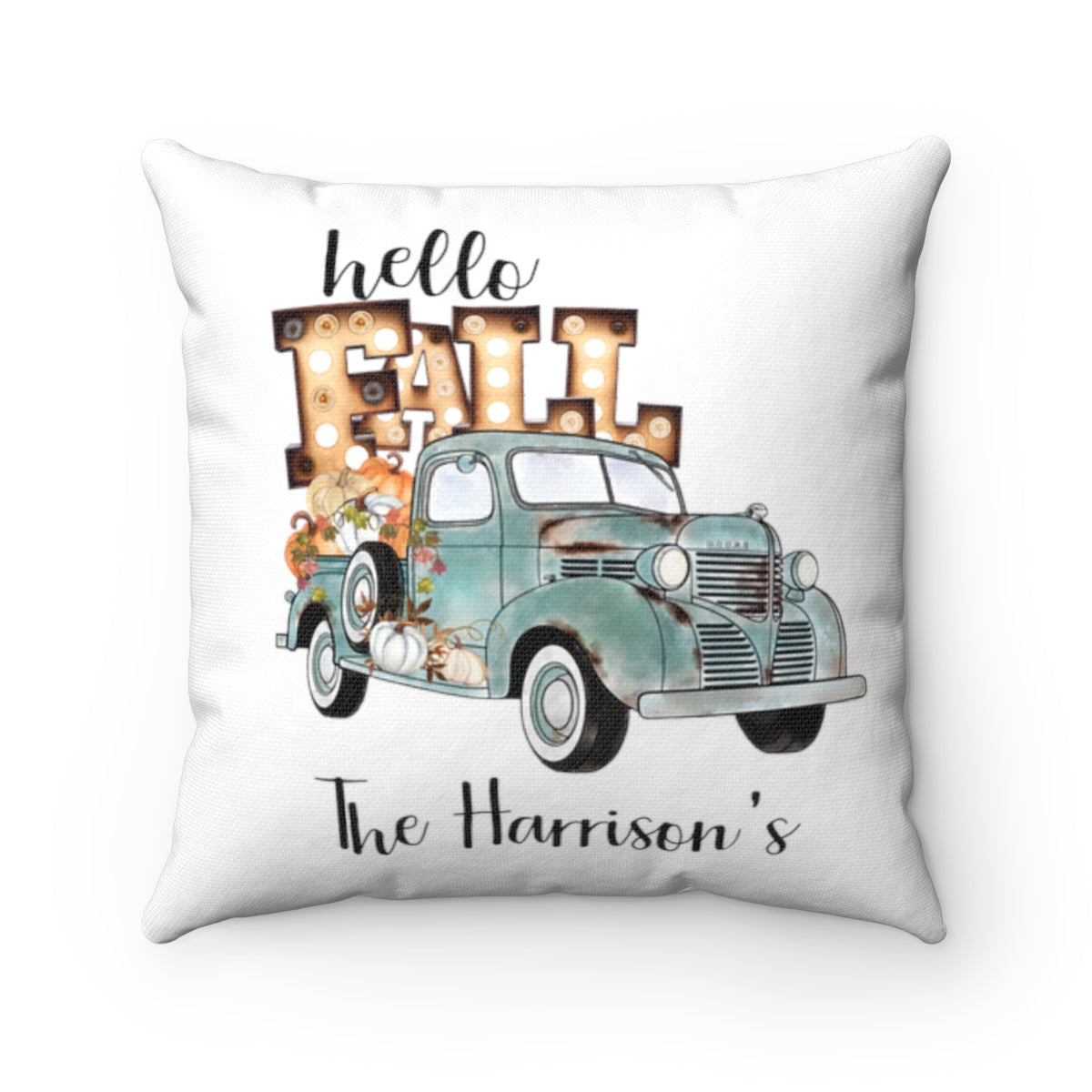 Personalized Hello Fall Pillow