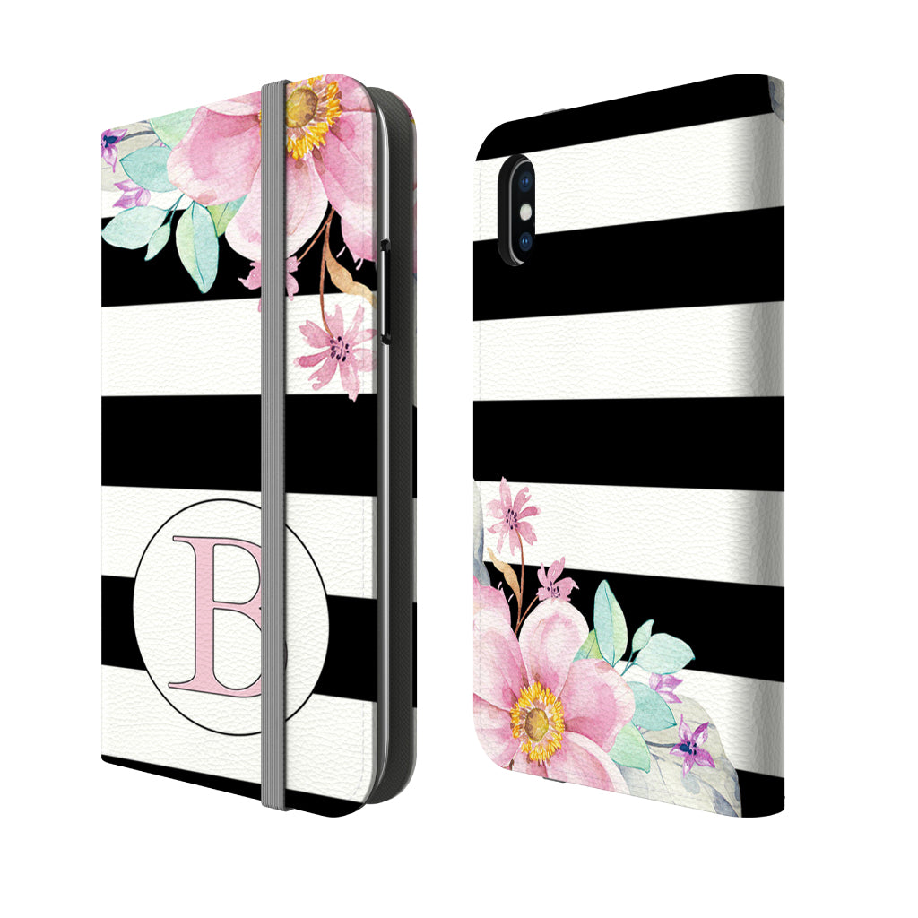Personalized Floral Folio Wallet Phone Case