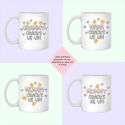 Cracks Us Up Personalized Easter Coffee Mug Gift