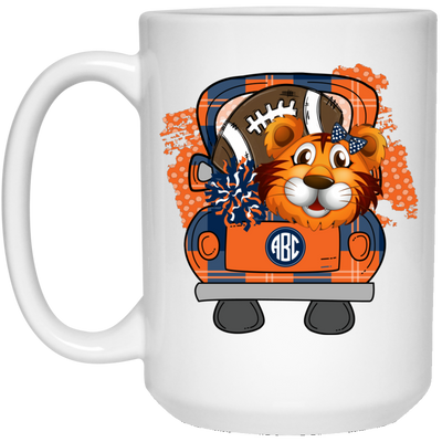Tiger Football Monogram Mug