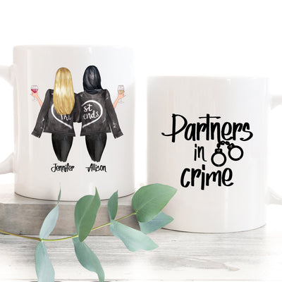 Partners in Crime Best Friend Gift Mug