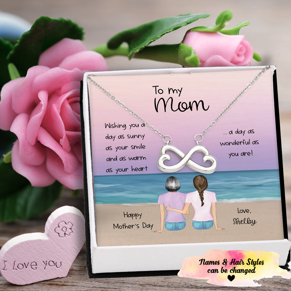Mother's Day Sunny Beach Infinity Necklace