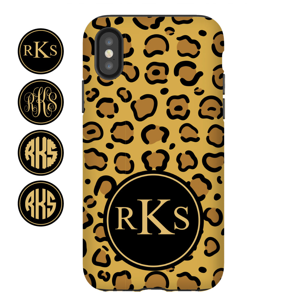 Leopard Monogram Phone Case