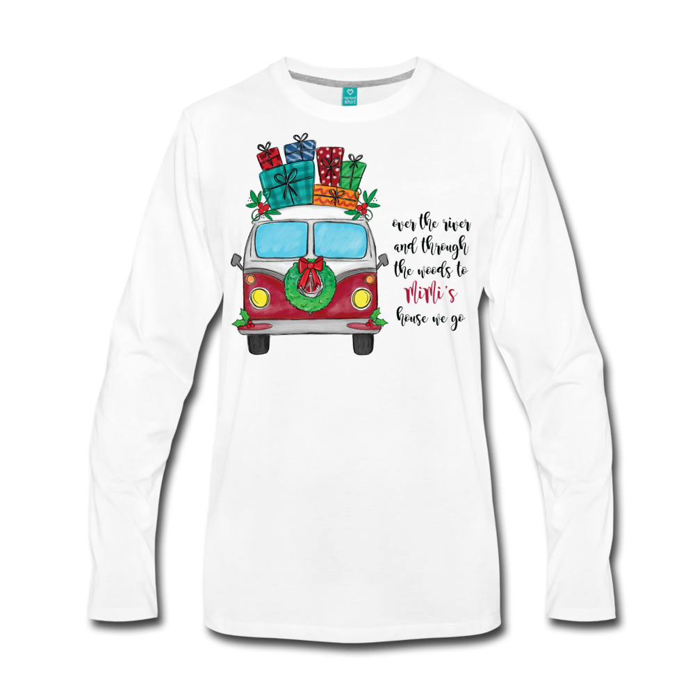 Over The River Personalized Christmas Long Sleeve T-Shirt