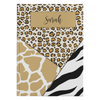 Personalized Leopard Tiger Giraffe Journal - Natural