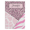 Mixed Animal Stripes Personalized Journal - Pink