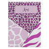 Personalized Mixed Animal Stripes Journal - Purple