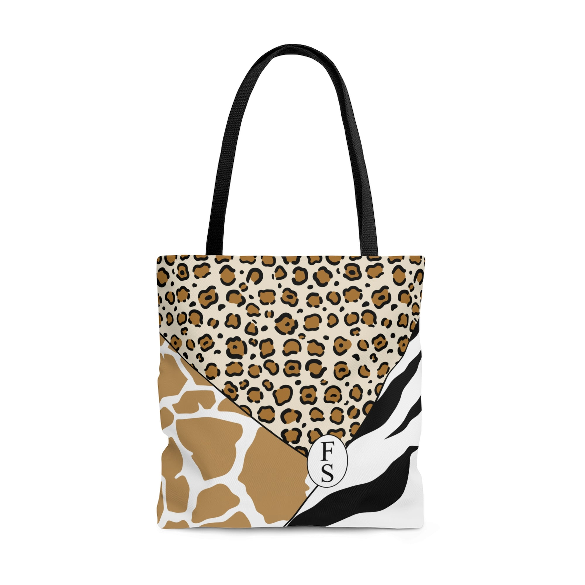 Mixed Animal Stripes Personalized Tote Bag