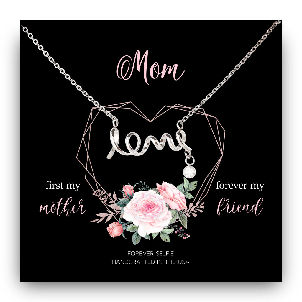Mom Forever My Friend Love Necklace