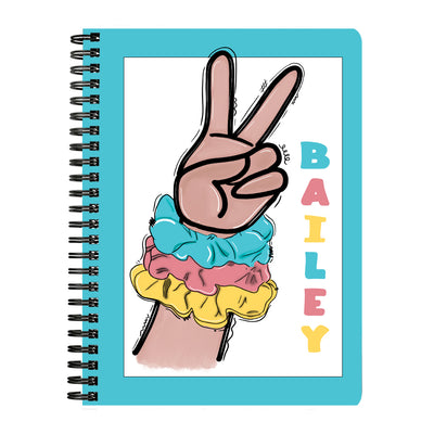 Personalized Sksksk Scrunchie Notebook - Blue