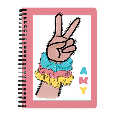 Personalized Sksksk Scrunchie Notebook - Pink