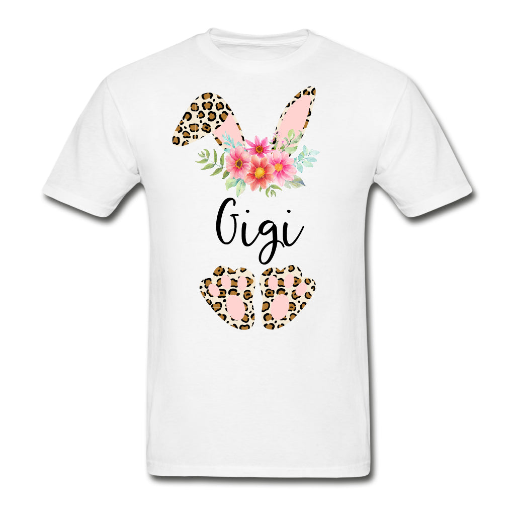Personalized Leopard Bunny T-shirt