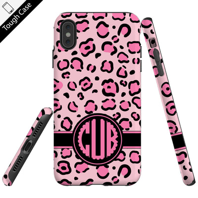 Sexy Pink Leopard Personalized Name Phone Case