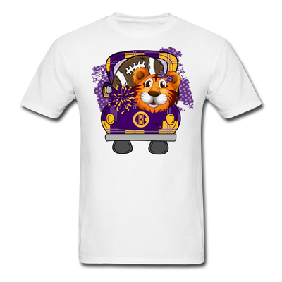 Monogram Purple Gold Tiger Football Shirt