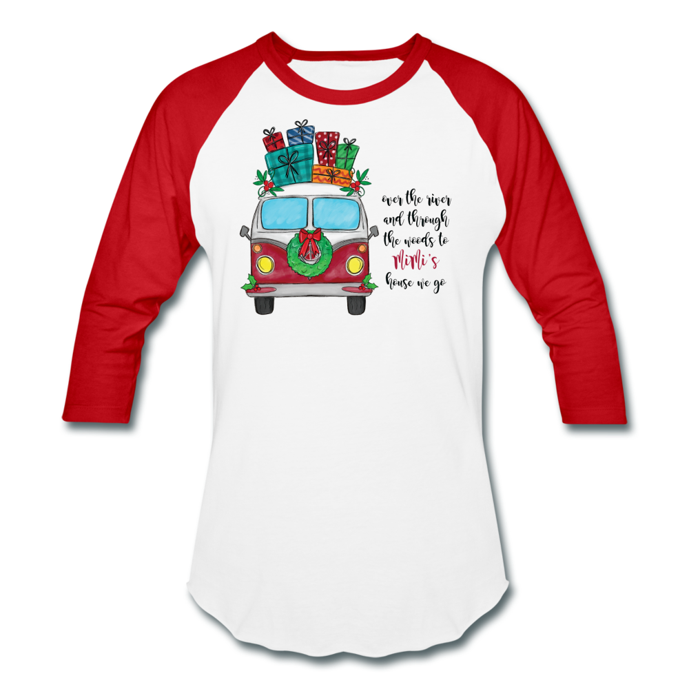 Over The River Personalized Christmas Raglan