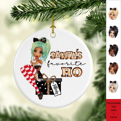Santa's Favorite Ho Personalized Ornament