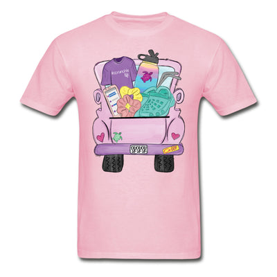 Sksksk and I Oop Truck Personalized Pink T-shirt