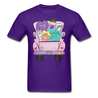 Sksksk and I Oop Truck Personalized T-shirt - Purple