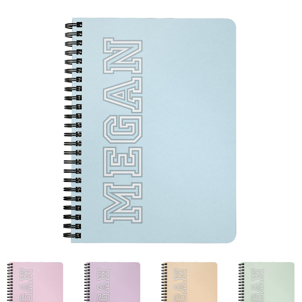Team Cool Personalized Spiral Notebook