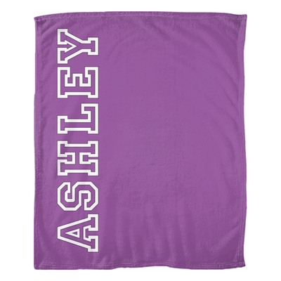 Personalized Name Throw Blanket - Purple