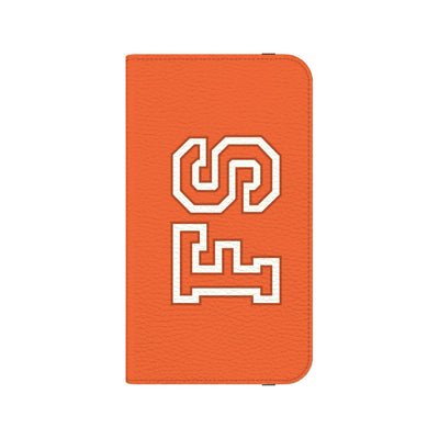 Team Bold Personalized Wallet Phone Case - Orange