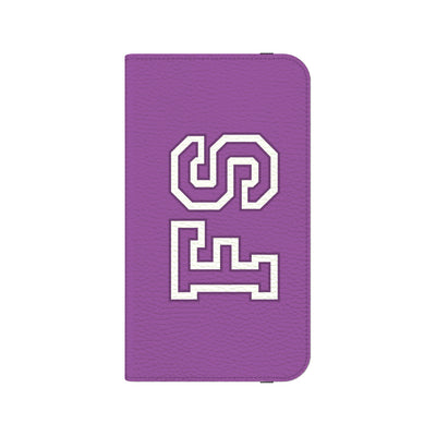 Team Bold Personalized Wallet Phone Case - Purple