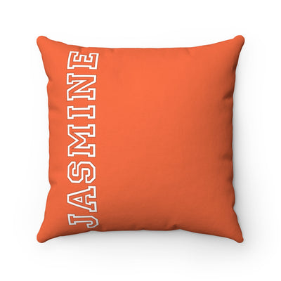 Personalized Name Pillow - Orange