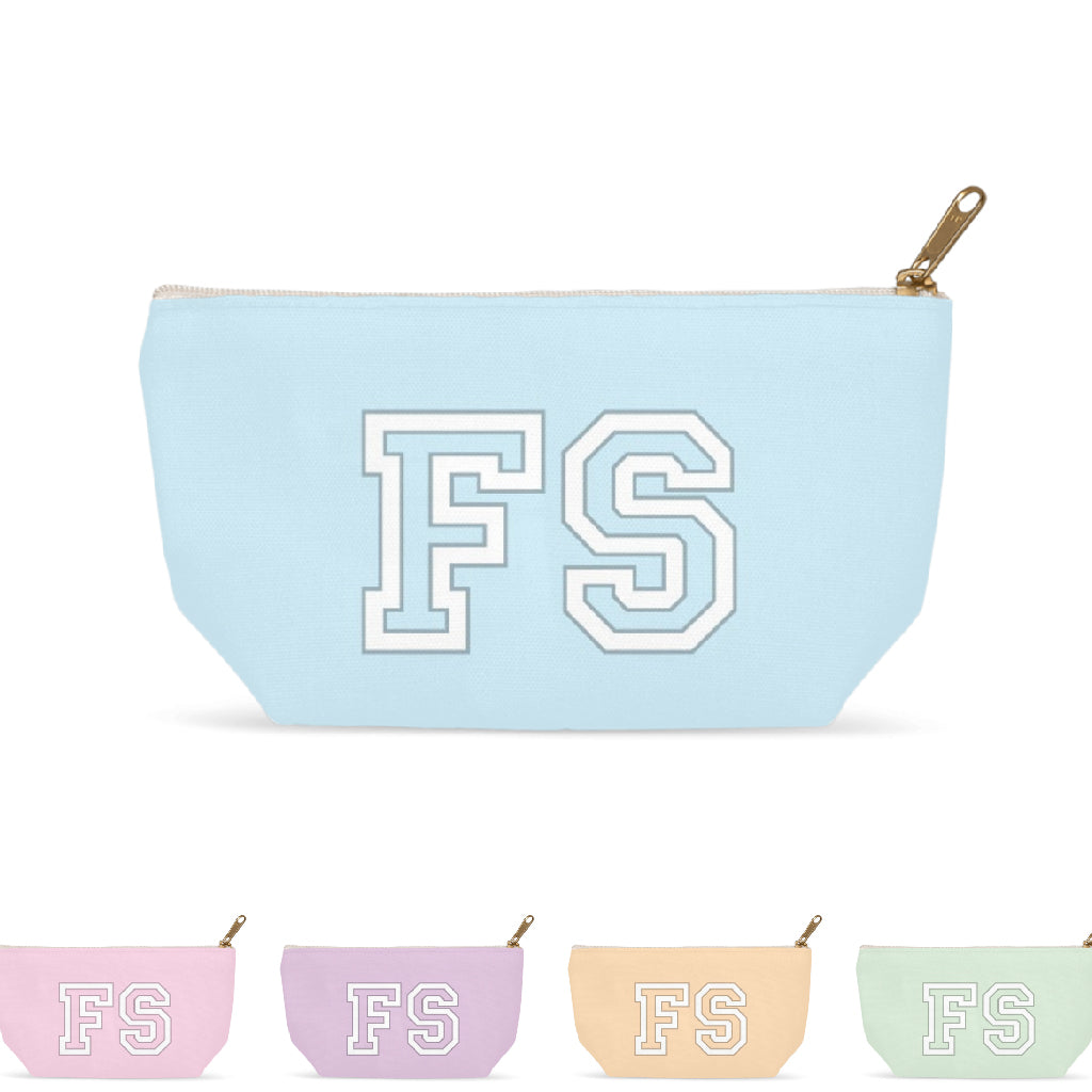 Personalized Designer Monogram Makeup Bag