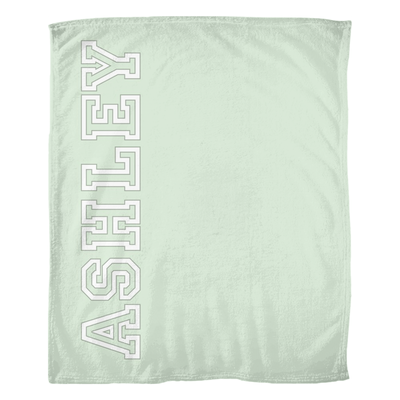 Soft Personalized Throw Blanket - Green