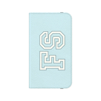 Team Cool Monogram Folio Wallet Phone Case - Blue