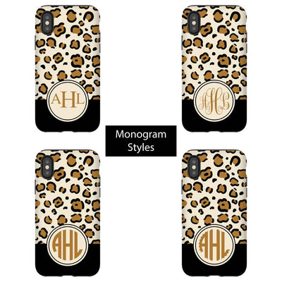 Monogram Styles for Wild Leopard Phone Cases