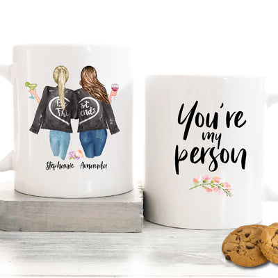 You're My Person Personalized Best Friend Mug