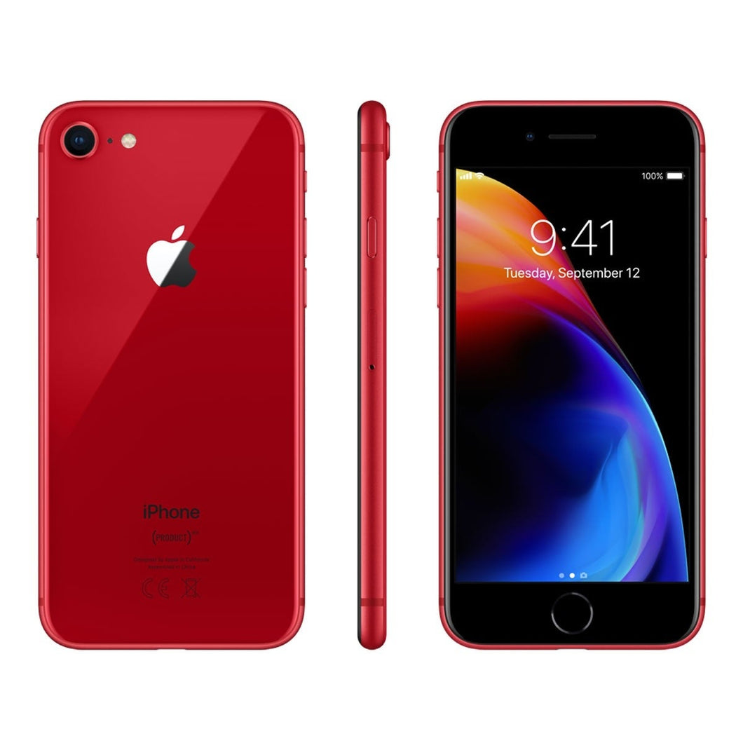 Apple iPhone 8 64GB Unlocked - Red - (Like New condition) with accessories